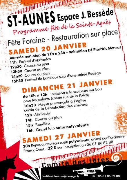 SAINT AUNES - Fête de la Sainte Agnes @ Saint Aunes