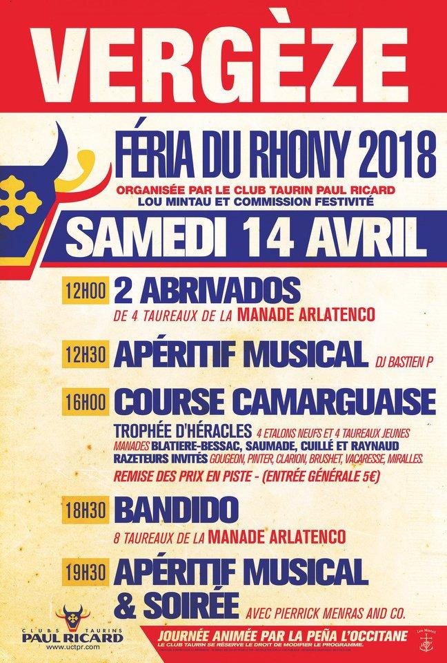 VERGEZE - Feria du Rhony abrivado et course