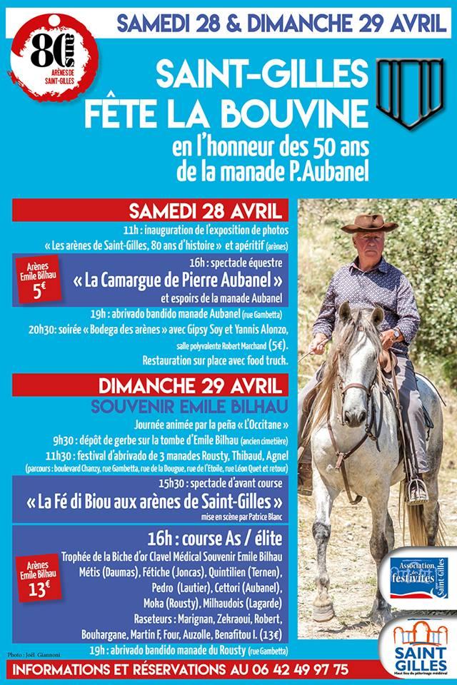 SAINT GILLES - la fête de la bouvine en l'honneur de la manade Pierre Aubanel