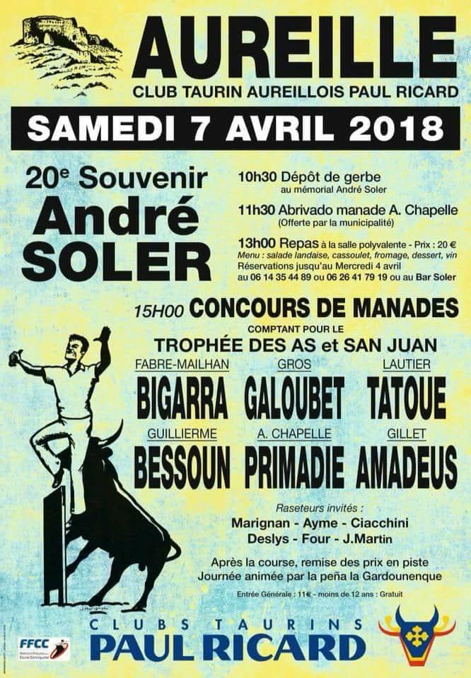 AUREILLE - Journée souvenir André Soler
