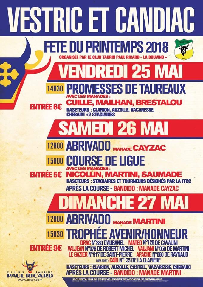 Ffcc Calendrier 2020.Vestric Et Candiac Fete Du Printemps Toril Tv