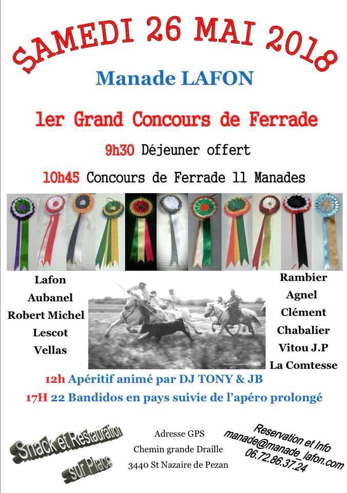 MANADE LAFON - Concours de ferrade