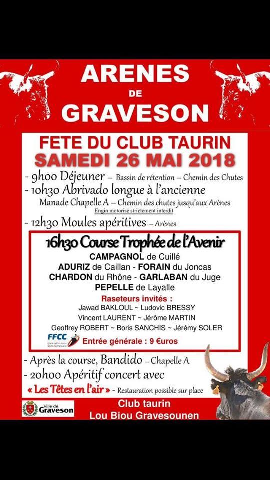GRAVESON - Fête du Club Taurin