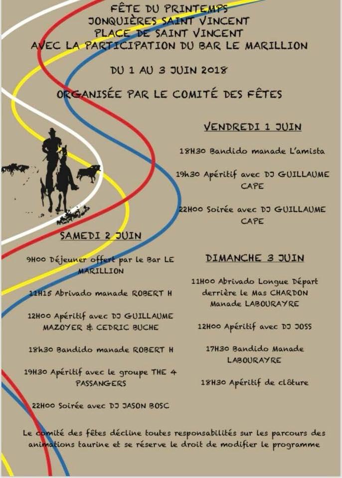 JONQUIERES ST VINCENT - Fête du Printemps