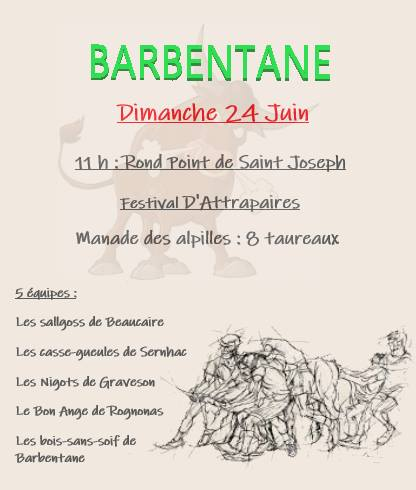 BARBENTANE Festival d'attrapaires