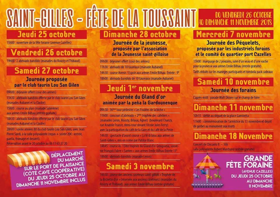 ST GILLES - Fête Toussaint
