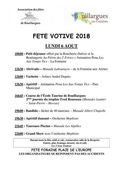 FETE BOUILLARGUES 2018