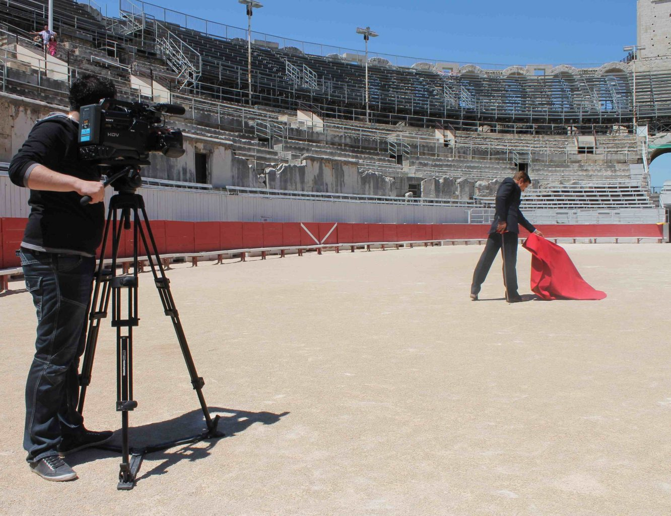 Tournage production arenes arles