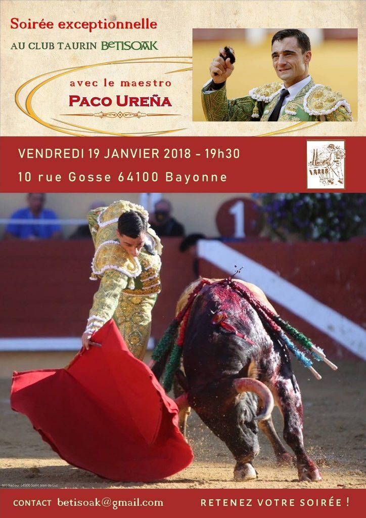 Club Taurin Betisoak reçoit Paco Ureña