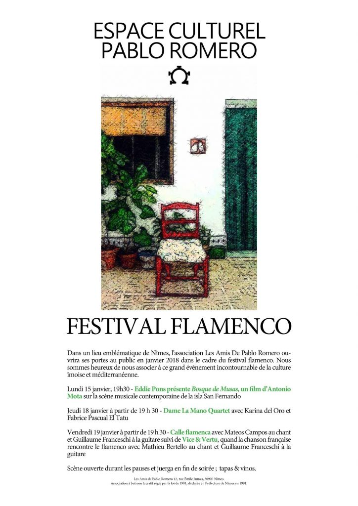Festival Flamenco Espace Culturel Pablo Romero