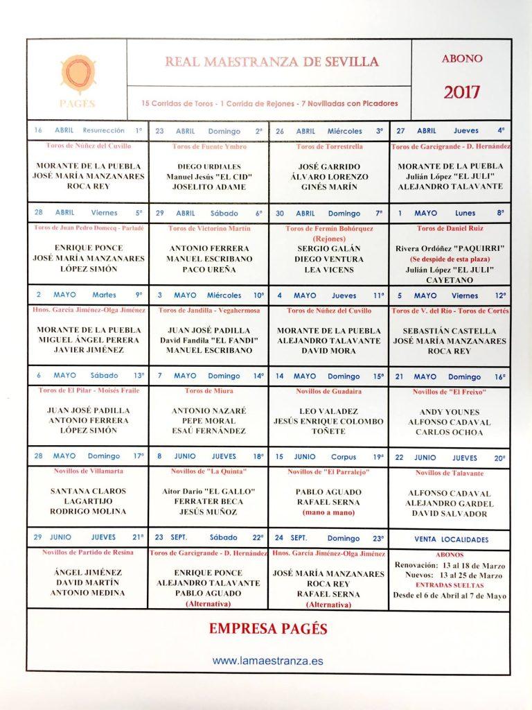 OFFICIEL Les cartels de Séville (Féria Avril et San Miguel)