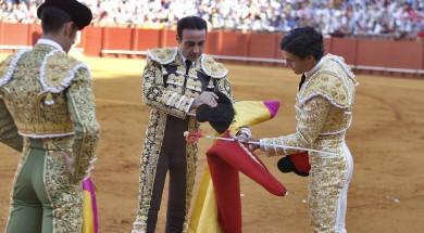 SEVILLA. 23.9.17. Corrida de la feria de San Miguel de Sevilla. real Maestranza de Caballeria. Pablo Aguado . FOTO: J.M.SERRANO. archsev
