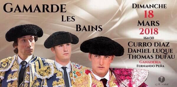 Première corrida en France en 2018 pour GAMARDE-LES-BAINS