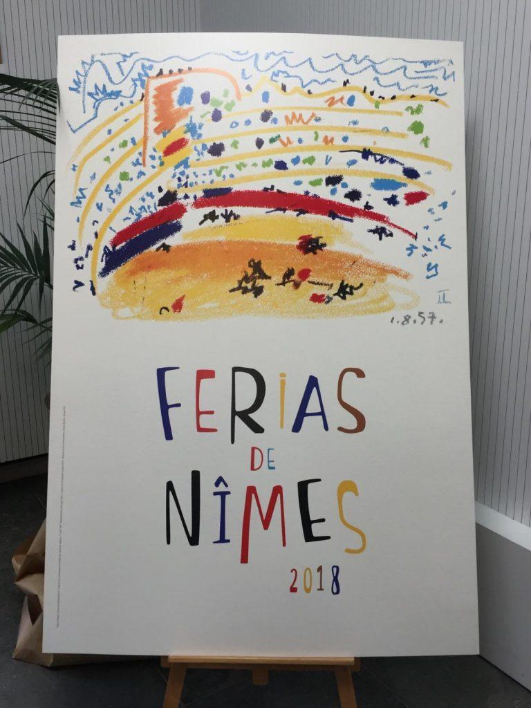 L'affiche officielle des FERIAS DE NÎMES 2018