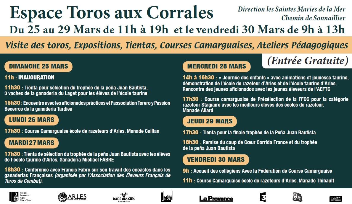 ARLES – Espace Toros aux Corrales du 25 au 30 mars 2018