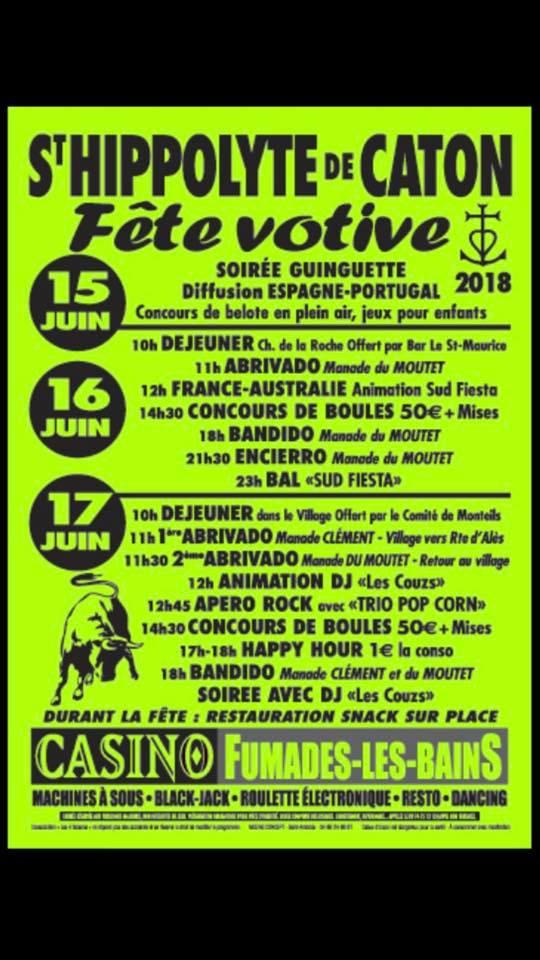 ST HIPPOLYTE DE CATON - Fête votive