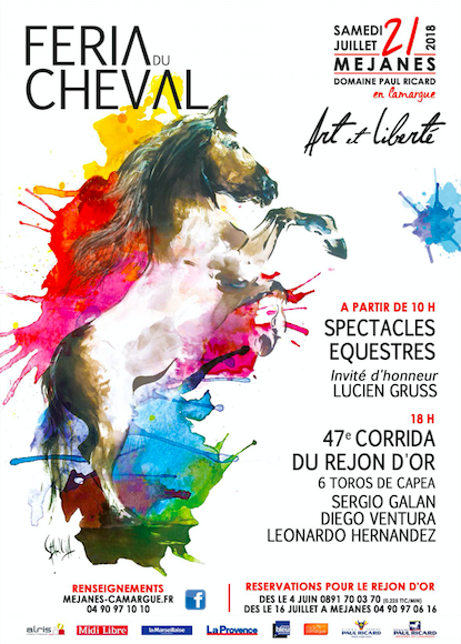 MEJANES – Le cartel officiel et l'affiche de la Féria du Cheval 2018