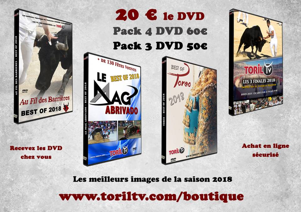 Commandez dès maintenant les nouveaux DVD 2018 de TORIL TV