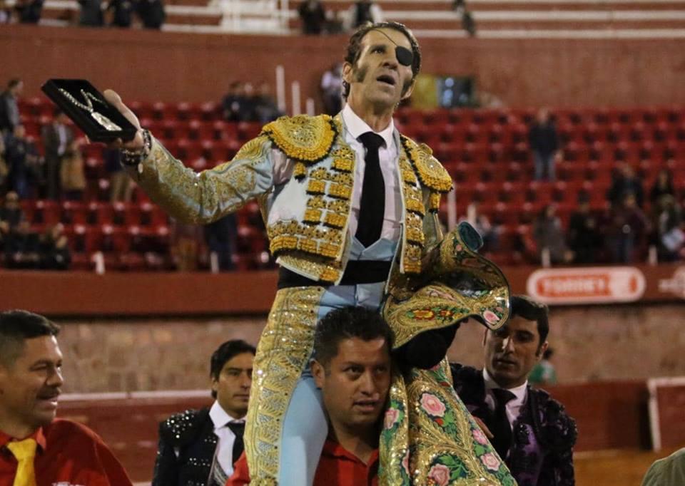 Zacatecas (México) 08-12-2018 // JUAN JOSE PADILLA en triomphe pour la Corrida Guadalupana