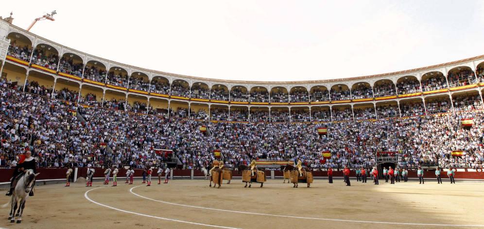 MADRID // Cartels officiels de la Feria de Otoño avec EL RAFI, JUAN LEAL et ANTONIO FERRERA seul contre six