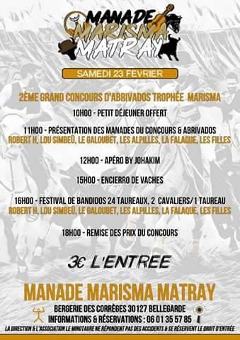MANADE MARISMA MATRAY - Journée taurine