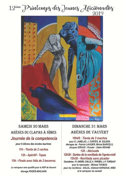 NÎMES – VAUVERT // L'affiche du 12ème Printemps des Jeunes Aficionados 2019