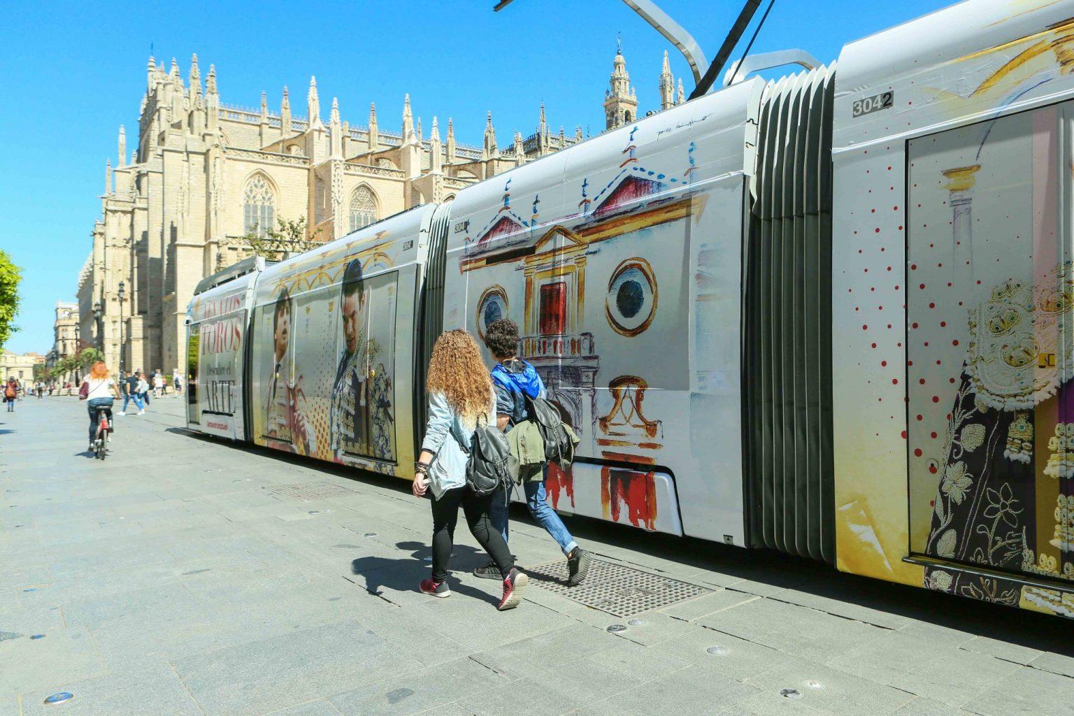 """Un Metrocrentro taurino à Séville – La campagne publicitaire de l'empresa Pagès """" SEVILLA es taurina"""""""