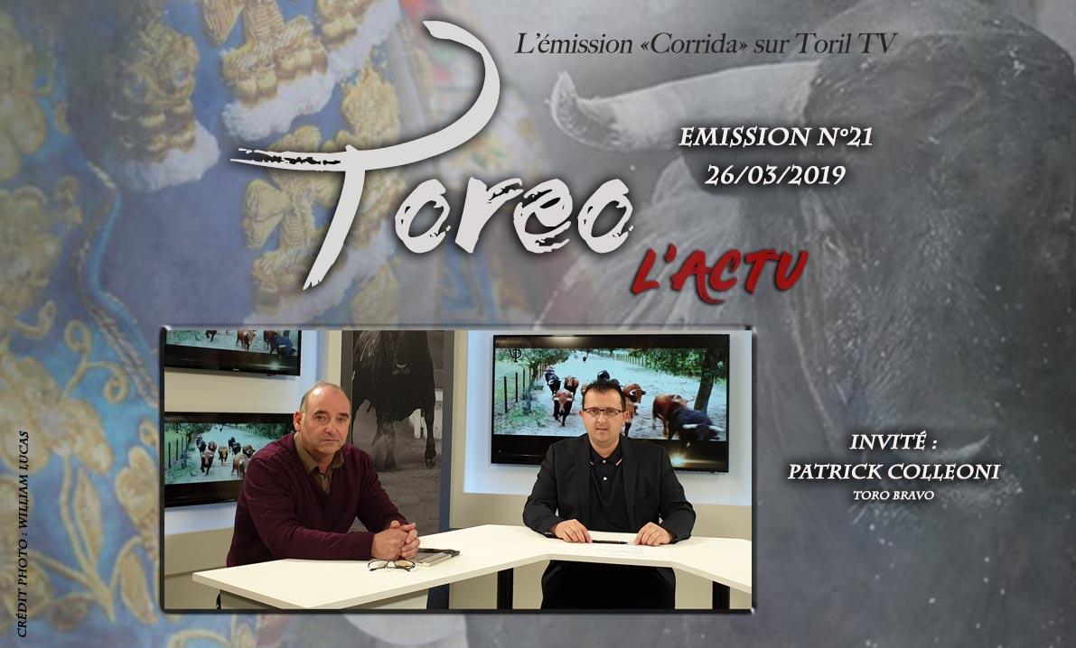 TOREO L' Actu n°21 – 26 mars 2019 – Le Magazine de la Corrida
