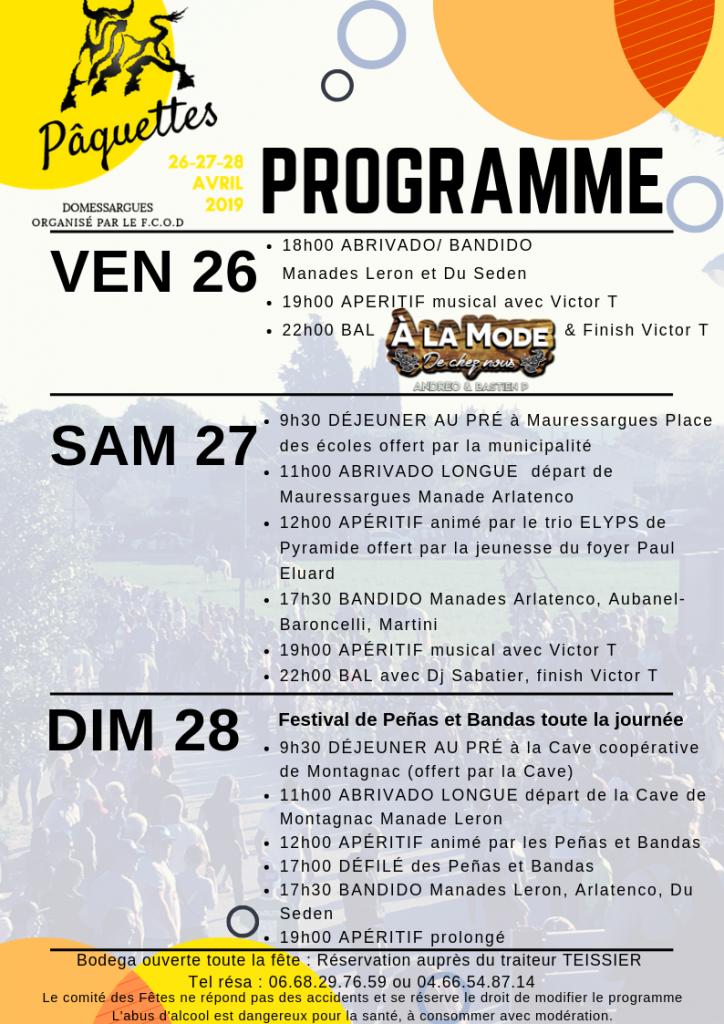 DOMESARGUES - Paquettes 2019