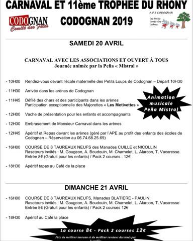 CODOGNAN - Carnaval et Trophée du Rhony
