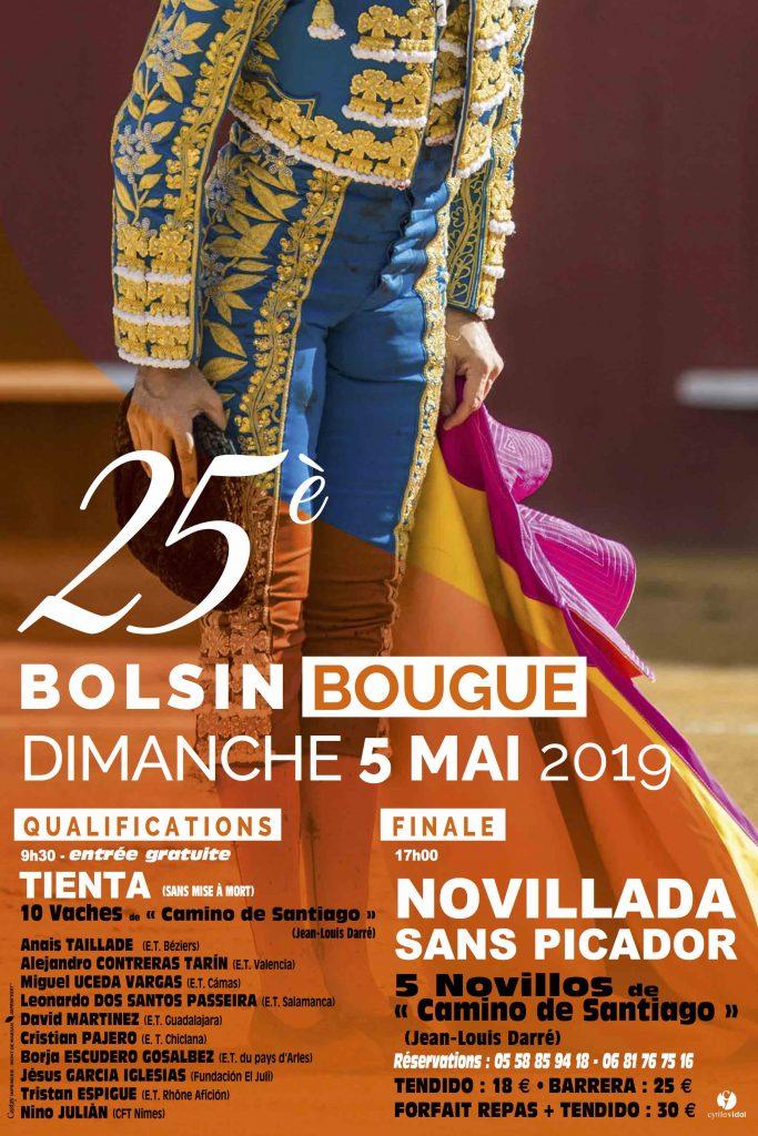L'affiche du 25ème BOLSIN de BOUGUE