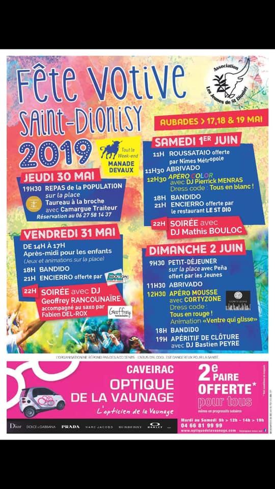 Calendrier Fete Votive 2019 Gard.Fete Votive 2019 Saint Dionisy Toril Tv Actualites