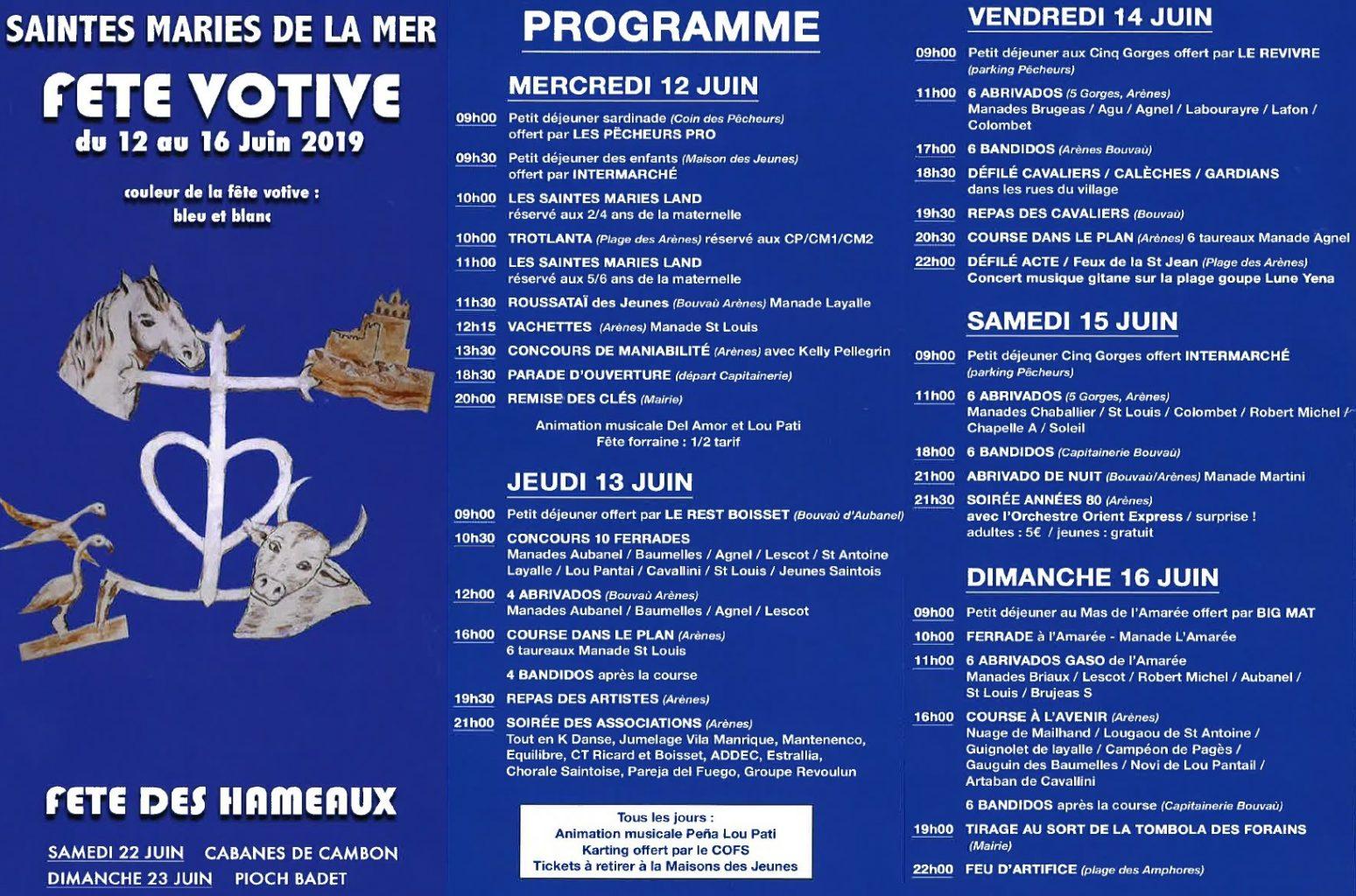 FETE VOTIVE SAINTES-MARIES-DE-LA-MER 2019