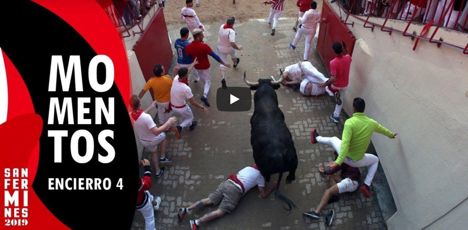 VIDEO // Les meilleures images du 4ème Encierro | Toros de Jandilla | San Fermín Pamplona 2019