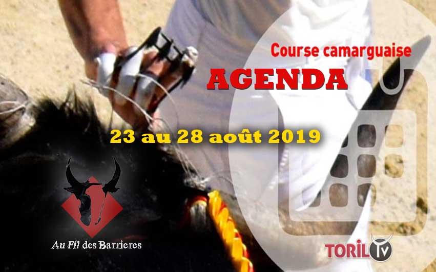 L'Agenda Course Camarguaise – 23 au 28 AOUT 2019 – AU FIL DES BARRIÈRES