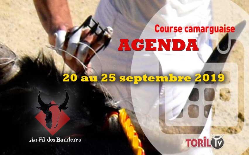 L'agenda Course Camarguaise du 20 au 25 septembre 2019 – AU FIL DES BARRIERES