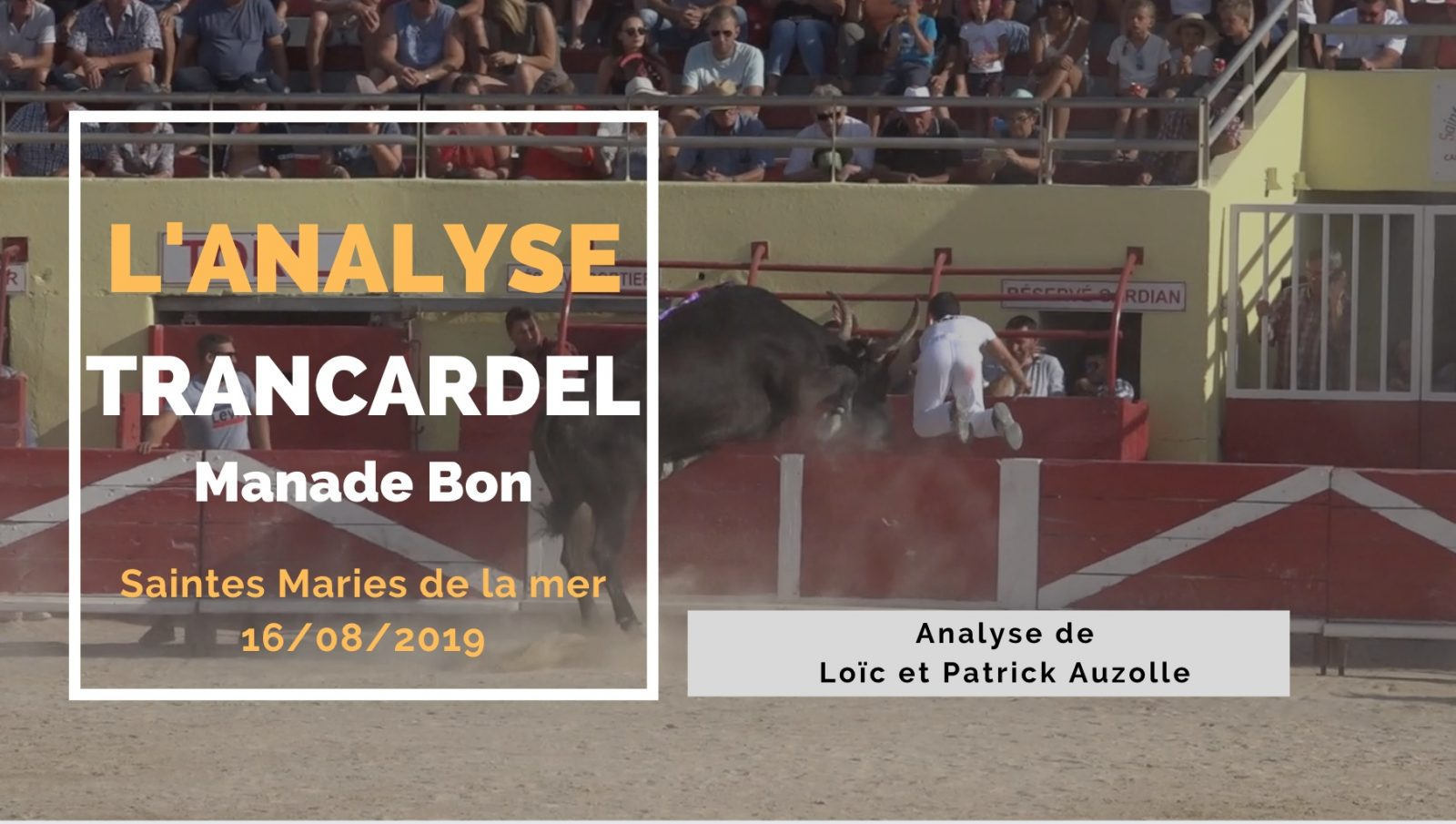 L'ANALYSE : Trancardel (Bon) – Saintes Maries de la Mer (16/08/2019)