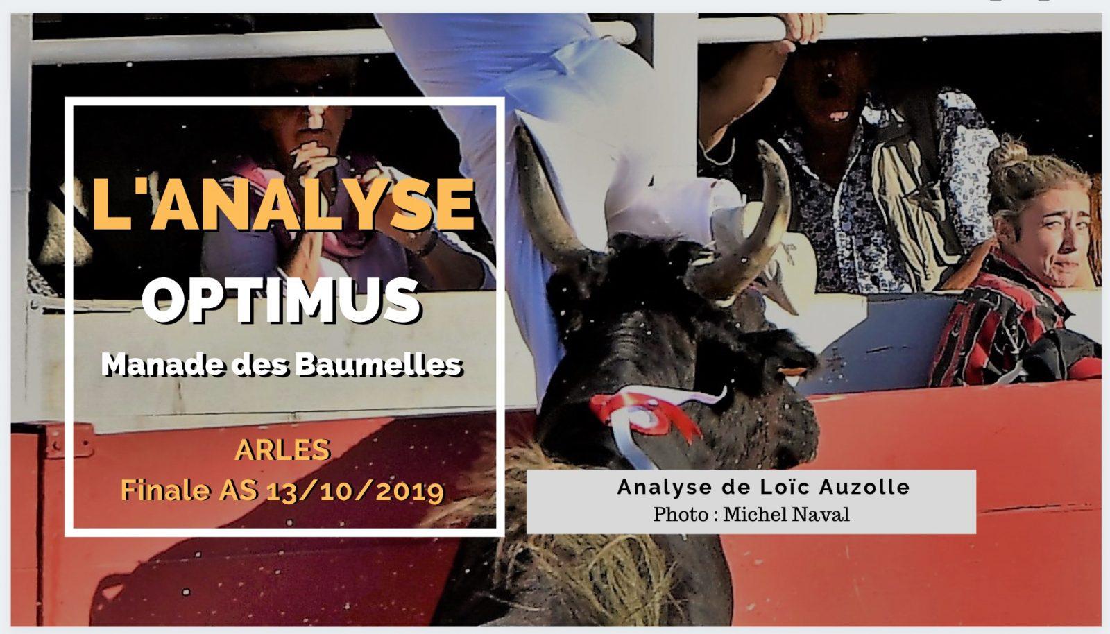 L'ANALYSE – Optimus (Baumelles) – Finale AS Arles 13/10/2019