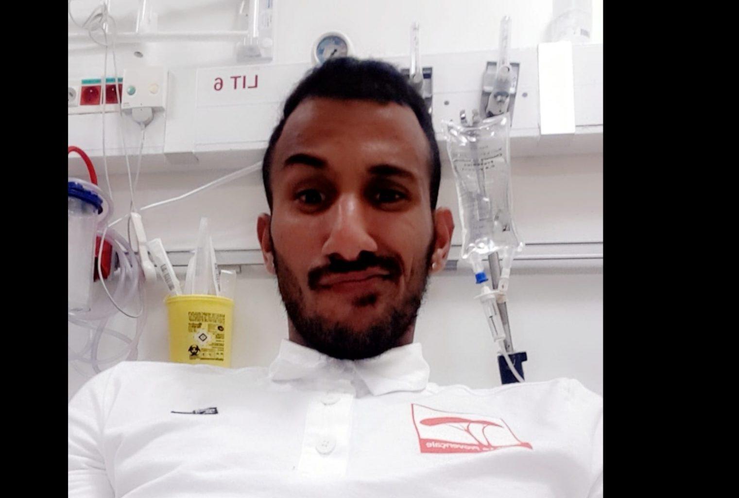 Coup de corne dans la cuisse pour Youssef Zekraoui à Bellegarde (19/10/2019)