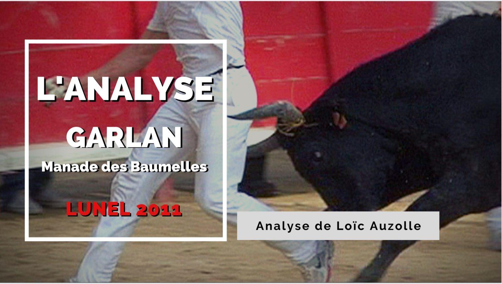 VIDEO // L'ANALYSE – Garlan (Manade des Baumelles) – LUNEL 2011 – AU FIL DES BARRIERES
