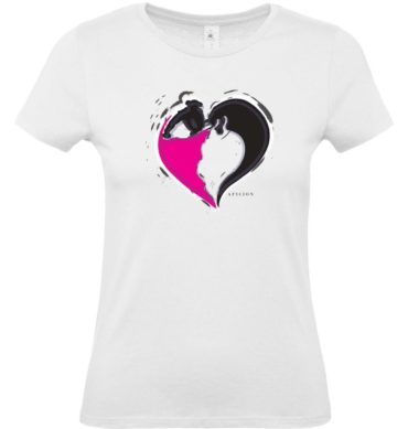 tee shirt femme toro corazon feria corrida