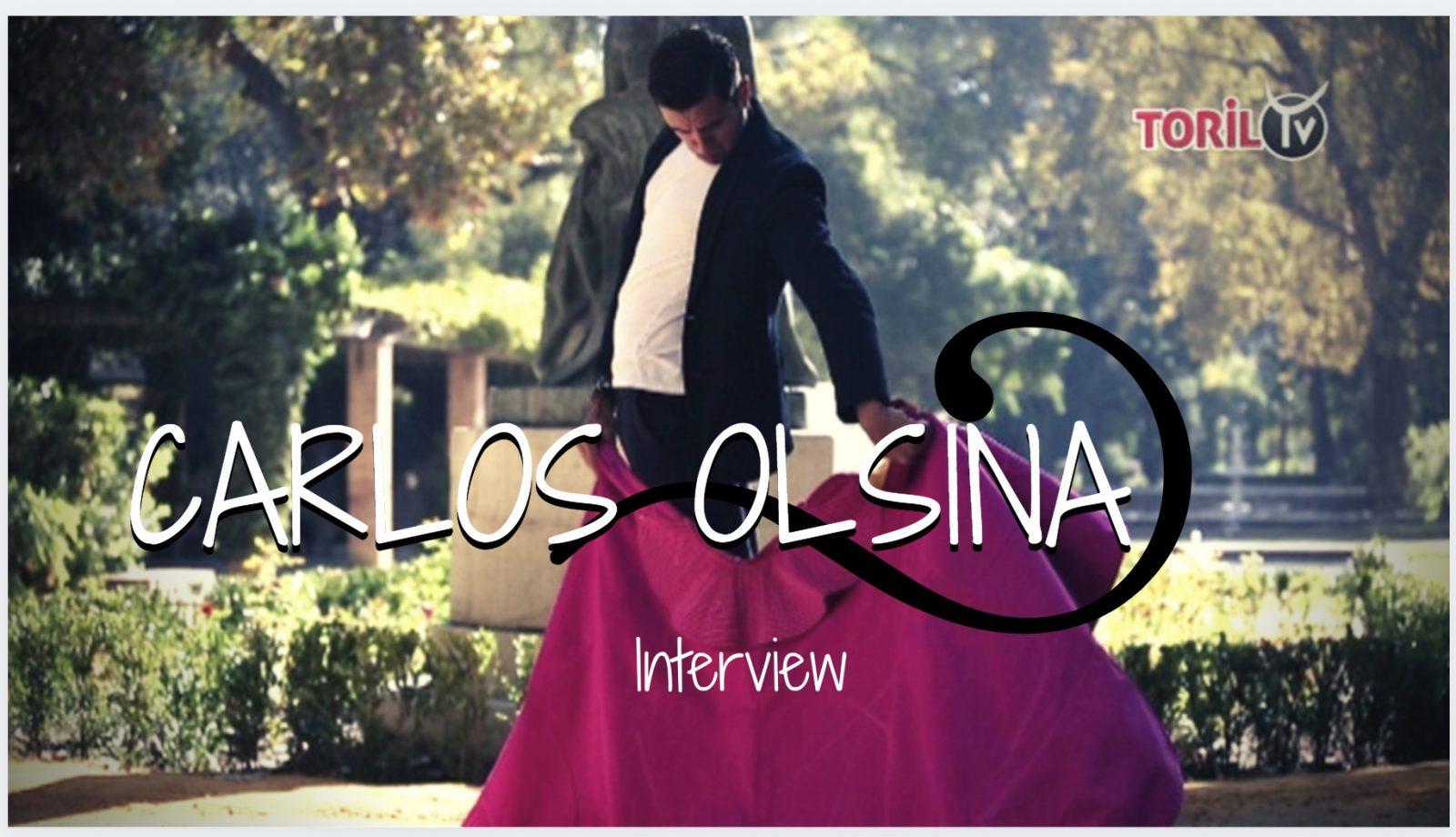 """INTERVIEW // Rencontre avec le novillero CARLOS OLSINA : """"l'objectif est de triompher dans les arènes d'importance, de première catégorie, pour penser plus tard à l'alternative, en 2021 par exemple…"""""""