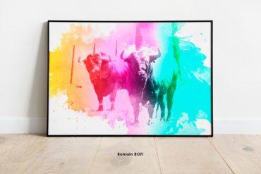 campo color tableau toro imprimé