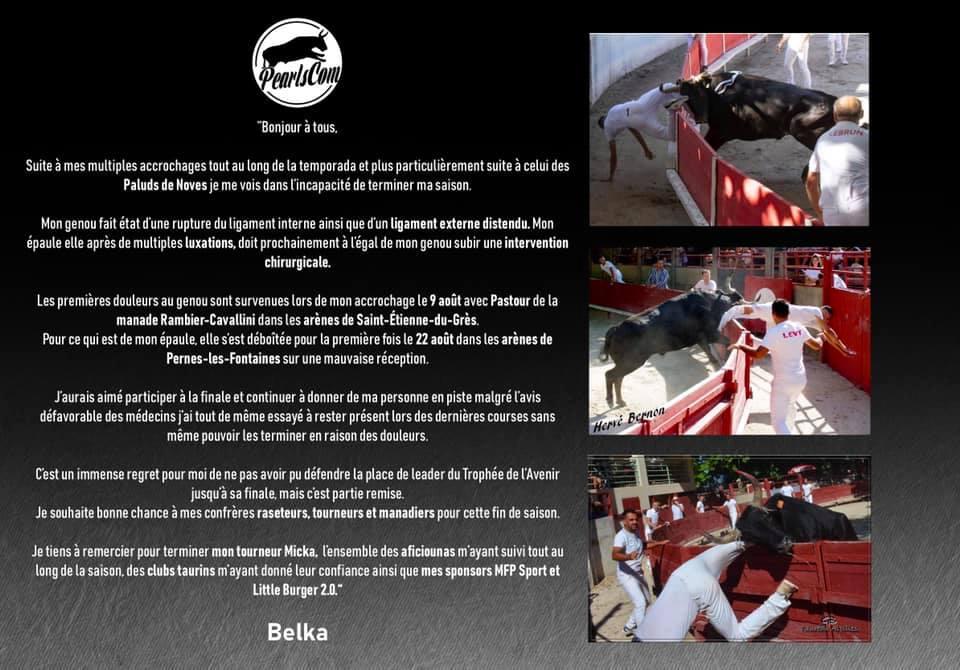 Témoignage Belkacem pour sa fin de saison soudaine