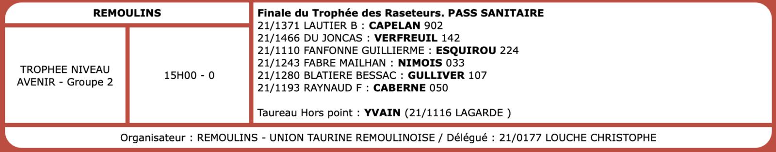 Courses camarguaises du 02 Octobre