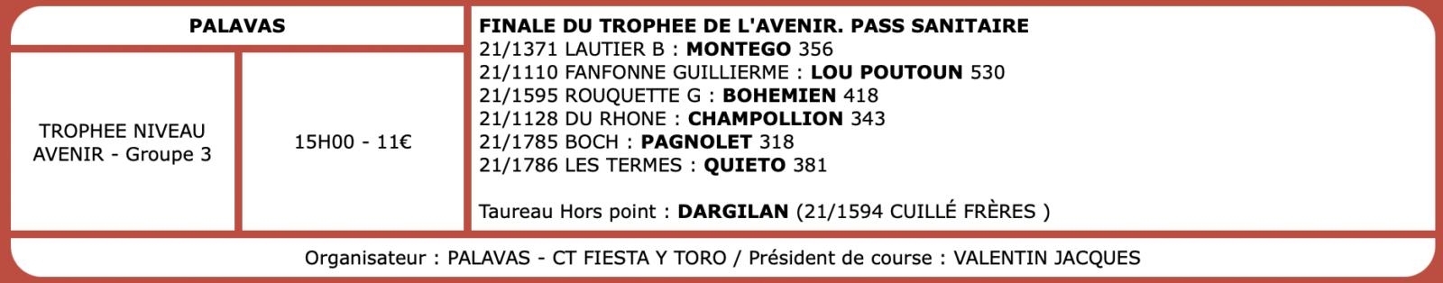 Courses camarguaises du 03 Octobre