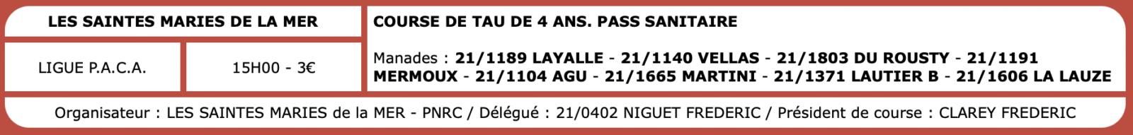 Courses camarguaises du 06 Octobre