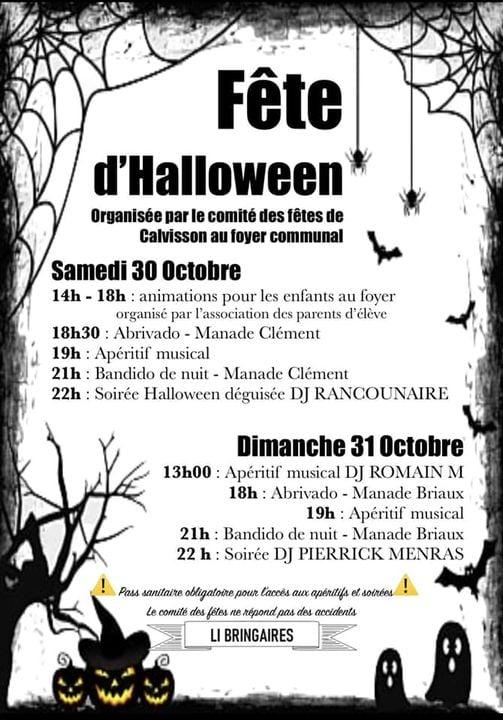 Weekend Fête d'Halloween 2021